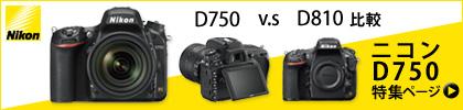 Nikon D750 ニコン 一眼レフカメラ 特集ページ!D750とD810比較