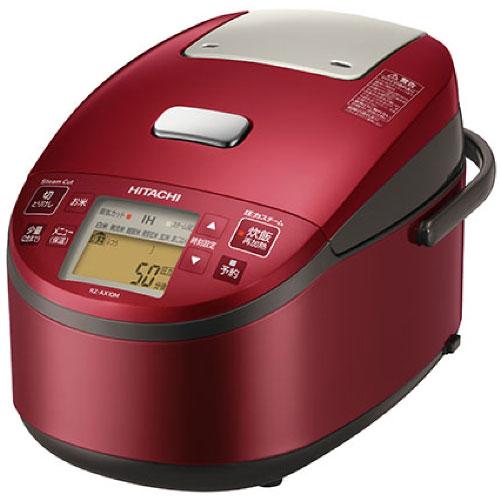 【クリックで詳細表示】日立 圧力スチームIH炊飯器 黒厚鉄釜 RZ-AX10M-R メタリックレッド [5.5合炊き] 《納期約1週間》