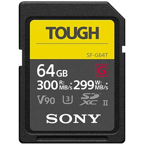 【クリックで詳細表示】ソニー TOUGH SF-G64T SDXCメモリーカード Class10 (UHS-II) 64GB 《納期約2週間》